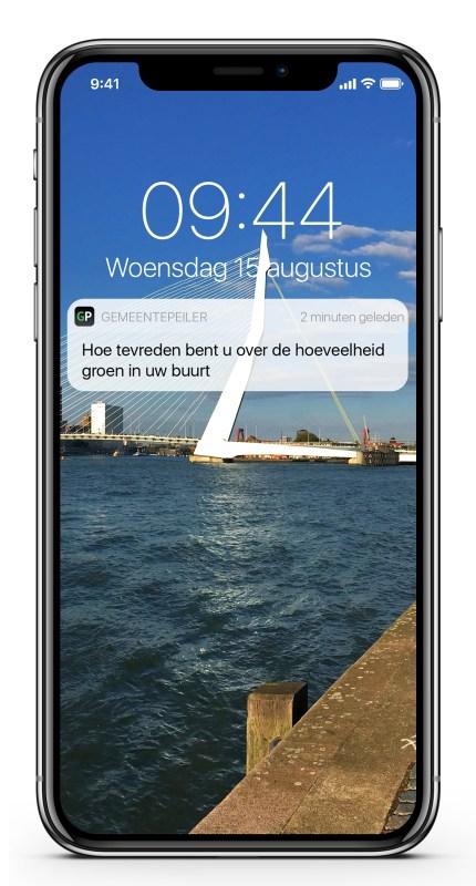 De app van gemeentepeiler