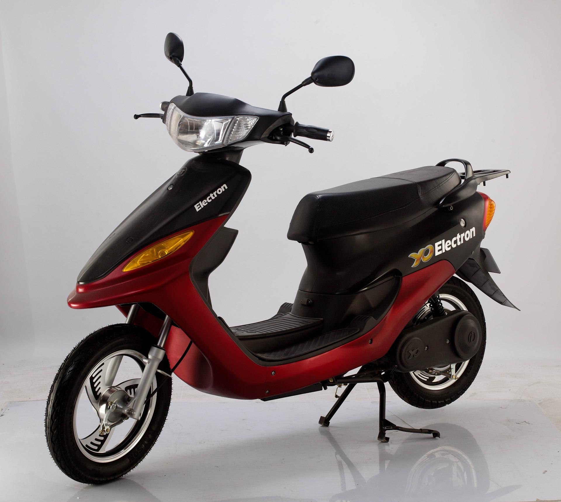 Elektrisch scooter rijden