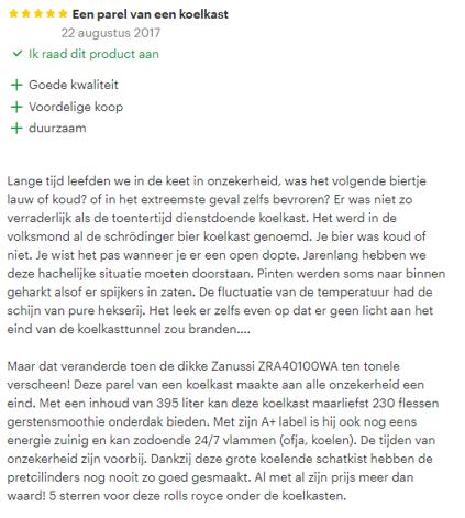 opvallende bol.com reviews