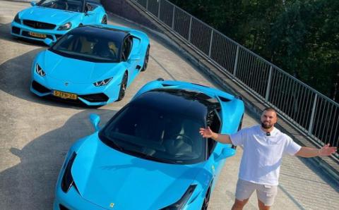 Kosso breidt zijn wagenpark uit met gelikte Ferrari